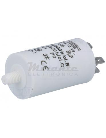 DUCATI ENERGIA Condensatore per Motori Bifase 8uF 425VAC Ø32x55mm