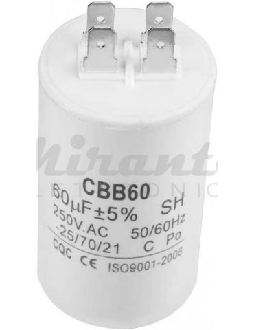 SR PASSIVES Condensatore per motore 50uF 450V Ø50x106