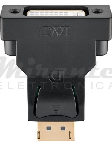 Goobay - Adattatore da DisplayPort a DVI-I Dual Link 24+5 pin