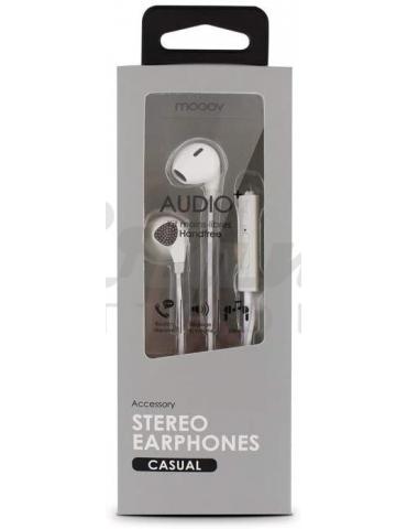 Metronic - Auricolare Cuffia con Microfono, Jack 3,5, colore Bianco