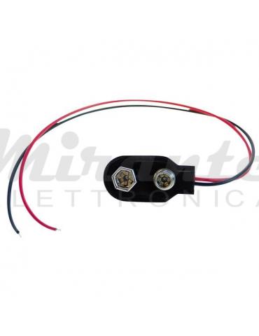 Connettore Porta Batteria a Clip con filo per batteria 9 V