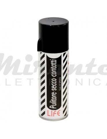 LIFE - Spray Pulisci Contatti Disossidante Secco, Trasparente