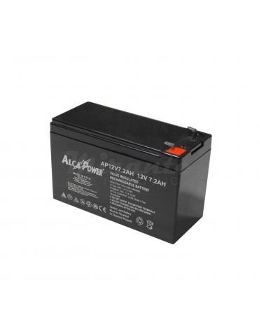 ALCAPOWER - Batteria al piombo Ricaricabile 12V 7.2Ah