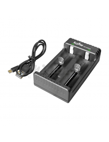 Alcapower - Caricatore USB per batterie Li-ion 18650 26650, 22650, 26500, 18490, 17500, 17335, 16340, 14500 e 10440.