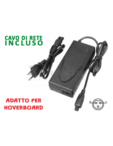 Alcapower - Hoverboard Caricabatterie 42V 2A Spinotto 3 poli
