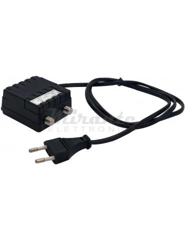 Elettronica Cusano - AL200, Alimentatore per Amplificatori Antenna, 12V 200 mA, Nero