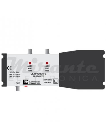 Centralina da interno con Filtro LTE - Bande VU - 32dB - 2 In - 1 Out - EFFE