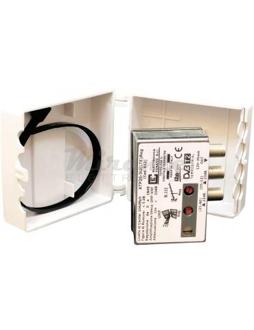 ATP20-3U(LTE) Reg - Amplificatore Antenna Tv da Palo con Filtro LTE/4G, 20dB, 2 Ingressi: 1xVHF e 1xUHF
