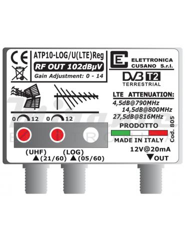 Amplificatore da Palo LTE Bande LOG e UHF da 10dB, 2 In 1 Out, EFFE
