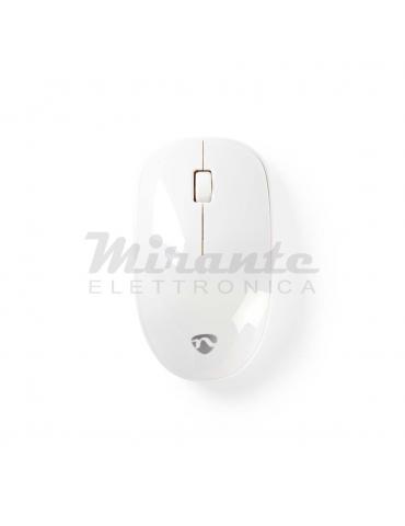 Nedis - Mouse Senza Fili Wireless 3 pulsanti 1000 DPI, Bianco