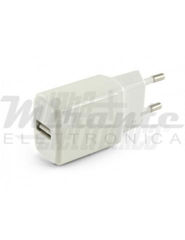 Caricatore Alimentatore USB - 5V - 1A - Bianco