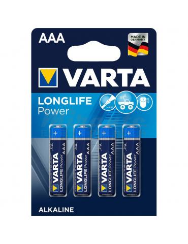 VARTA - Pile Mini Stilo Alcaline AAA, confezione da 4