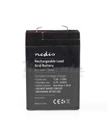 NEDIS - Batteria al piombo Ricaricabile 6V 4Ah