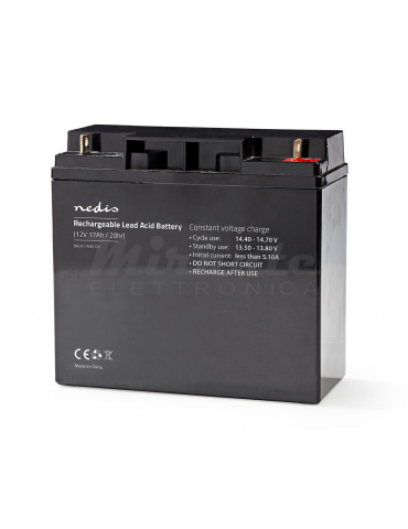 NEDIS - Batteria al piombo Ricaricabile 12V 17Ah