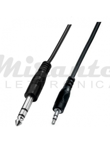 ZZIPP Cavo Audio Mini Jack 3,5 a Jack 6,3 Stereo, 1,5 metri