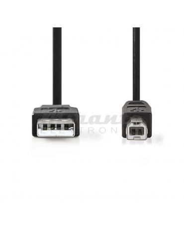 Nedis - Cavo USB 2.0 maschio A / maschio B (1 m)