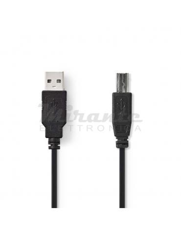 Nedis - Cavo USB 2.0 maschio A / maschio B (2 m)