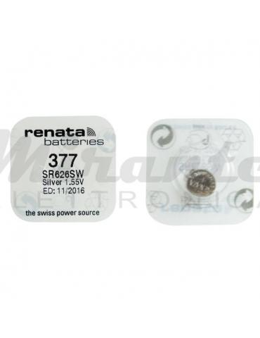 RENATA Batteria a bottone, al ossido d'argento 377 - SR626SW - SR66