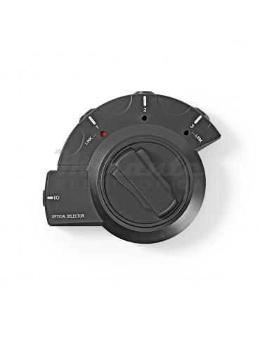 Nedis - Switch Ottico 3 Porte Nero per Amplificatore