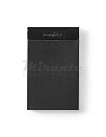 """NEDIS - Case Esterno per Disco Rigido 2.5"""" USB 3.1 pollici 2.5"""" SATA I II III, HDD, SSD"""
