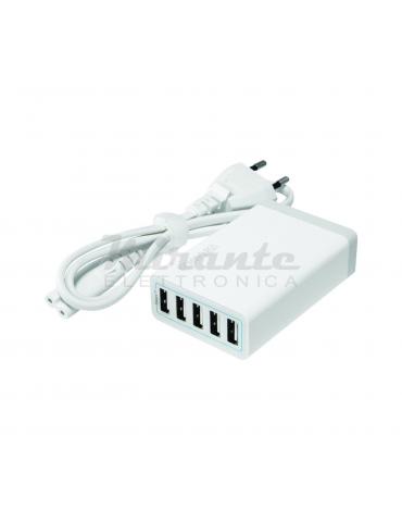 Caricabatterie USB 5V - 8A -  5 porte USB