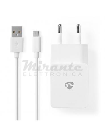 Nedis - Caricabatterie USB con cavo micro USB 5V 2,1A