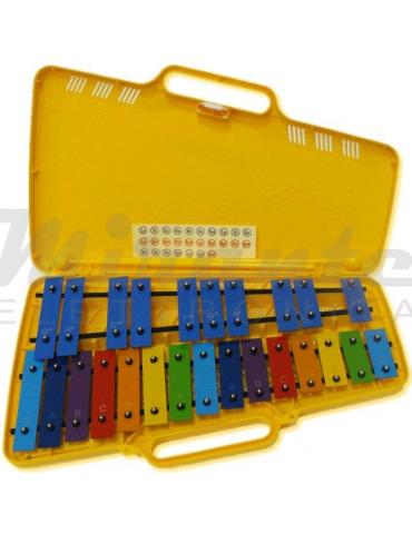 Angel AG / AX25N3 Metallofono 25 Note Piastre Colorate Glockenspiel