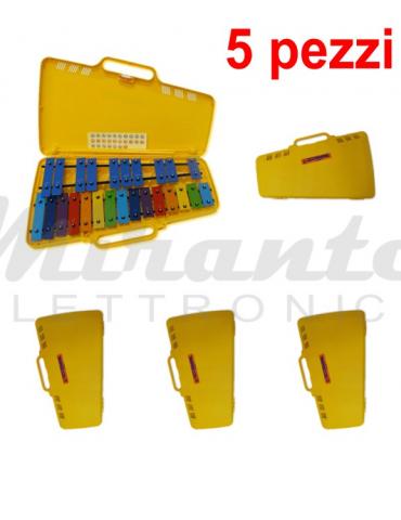 Angel AG AX25N3 - 5 Metallofoni 25 Piastre Note Colorate per Scuole