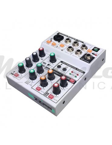 ZZIPP ZZMX3 Mixer Audio 3 Canali USB, DSP e Bluetooth