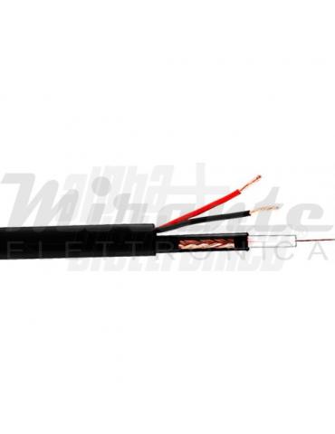 Alpha Elettronica WTR428 Cavo coassiale RG59 + 2x0,5mm², 100 metri