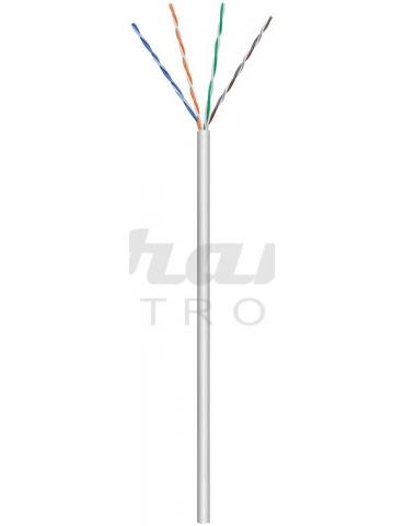 Goobay CAT 5e cavo di rete U/UTP, grigio, 1 metro