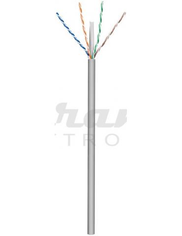 Goobay CAT 6 cavo di rete, U/UTP, grigio, 1 metro