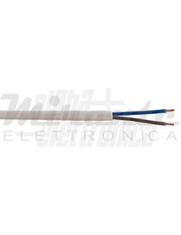 Alpha Elettronica WTR672 Cavo elettrico 2x0,75mm² piatto, bianco
