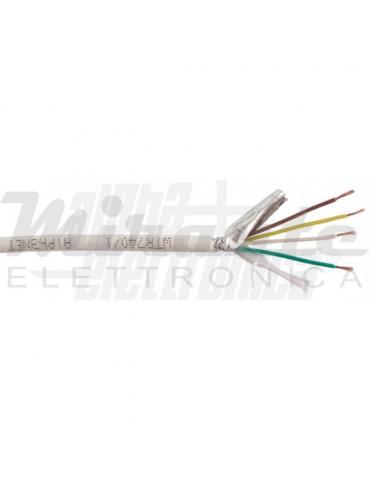 Alpha Elettronica WTR740/1 Cavo per allarme 4x0,22mm² CCA