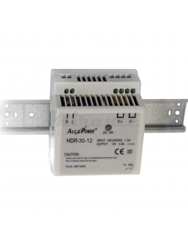 Alcapower 961001 Alimentatore Switching DIN 24W 12V