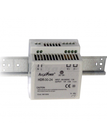 Alcapower 961002 Alimentatore Switching DIN 36W 24V
