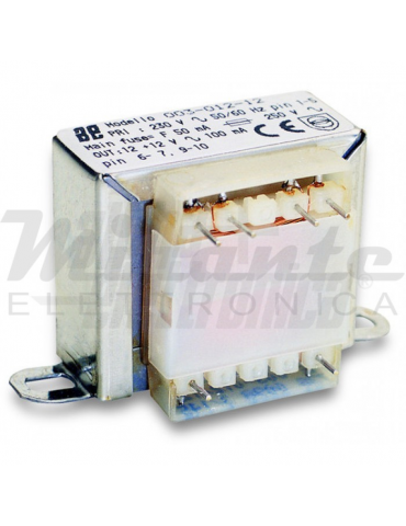 Alpha Elettronica Trasformatore per PCB 3W, 6+6V ac