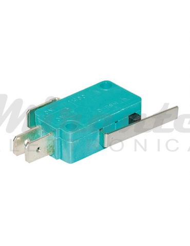 Microswitch con Leva 250Vac 5A, NC NO, verde
