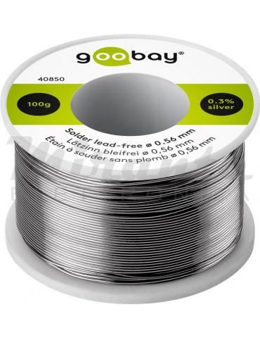 Goobay Stagno per saldatura senza piombo ø 0,56 mm, 100 g