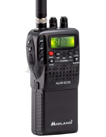 Midland Alan 42 DS CB Radio Ricetrasmittente Portatile AM/FM