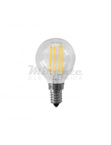 Alcapower - 4W Mini Sfera Filamento LED, Bianco Naturale 4000K, E14