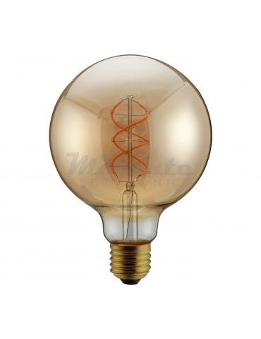 Alcapower - 5W Led Vintage Globo G125 a spirale, Bianco Caldo, E27