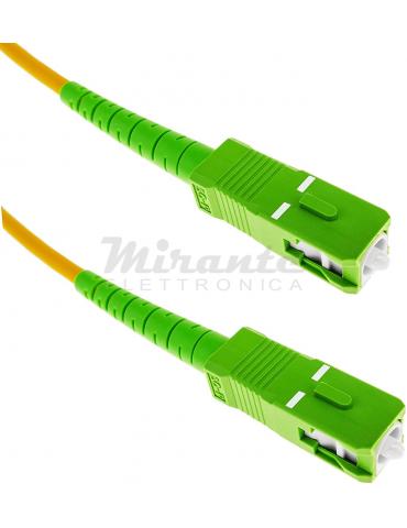 Metronic 470235 cavo a fibra ottica 5 m SC/APC Arancione