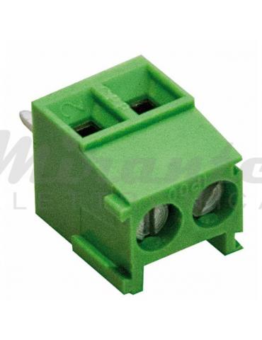 Morsetto per PCB Circuito Stampato Passo 3,5mm 2 poli 10A 130V