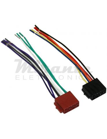 Set di 2 - Connettore cavo Spina ISO Femmina - Per autoradio - C1986
