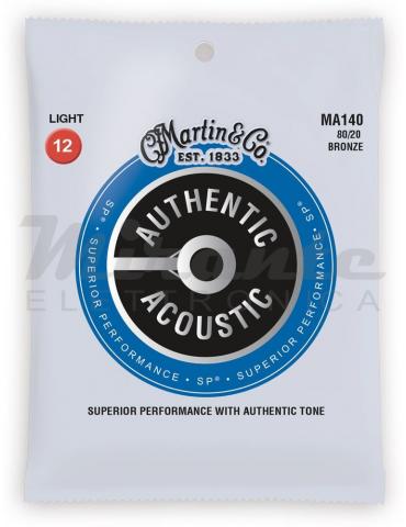 Martin MA140 Authentic Acoustic NUOVA VERSIONE Light (12-54) Bronzo 80/20, per Chitarra Acustica
