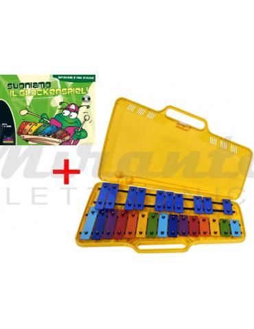 Set Metallofono Colorato Angel + Libro Suoniamo il Glockenspiel