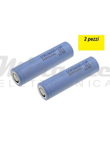 SAMSUNG 18650 Batteria 3,6v 2200mAh Li-ion, confezione da 2 pezzi