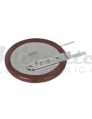 Panasonic VL 2330 Batteria 3v 50mAh, 2 pin a saldare