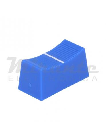 CLIFF Pomello potenziometro a slitta, 23x11mm, Blu